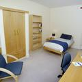 Bedroom and study desk at 32a Jack Straw's lane