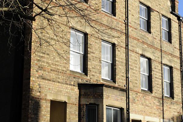 Image of walton street houses in sunshine